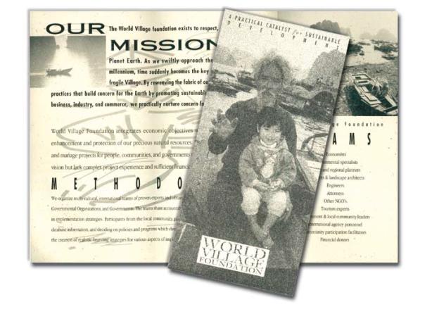 Brochure for an NGO, Vietnam